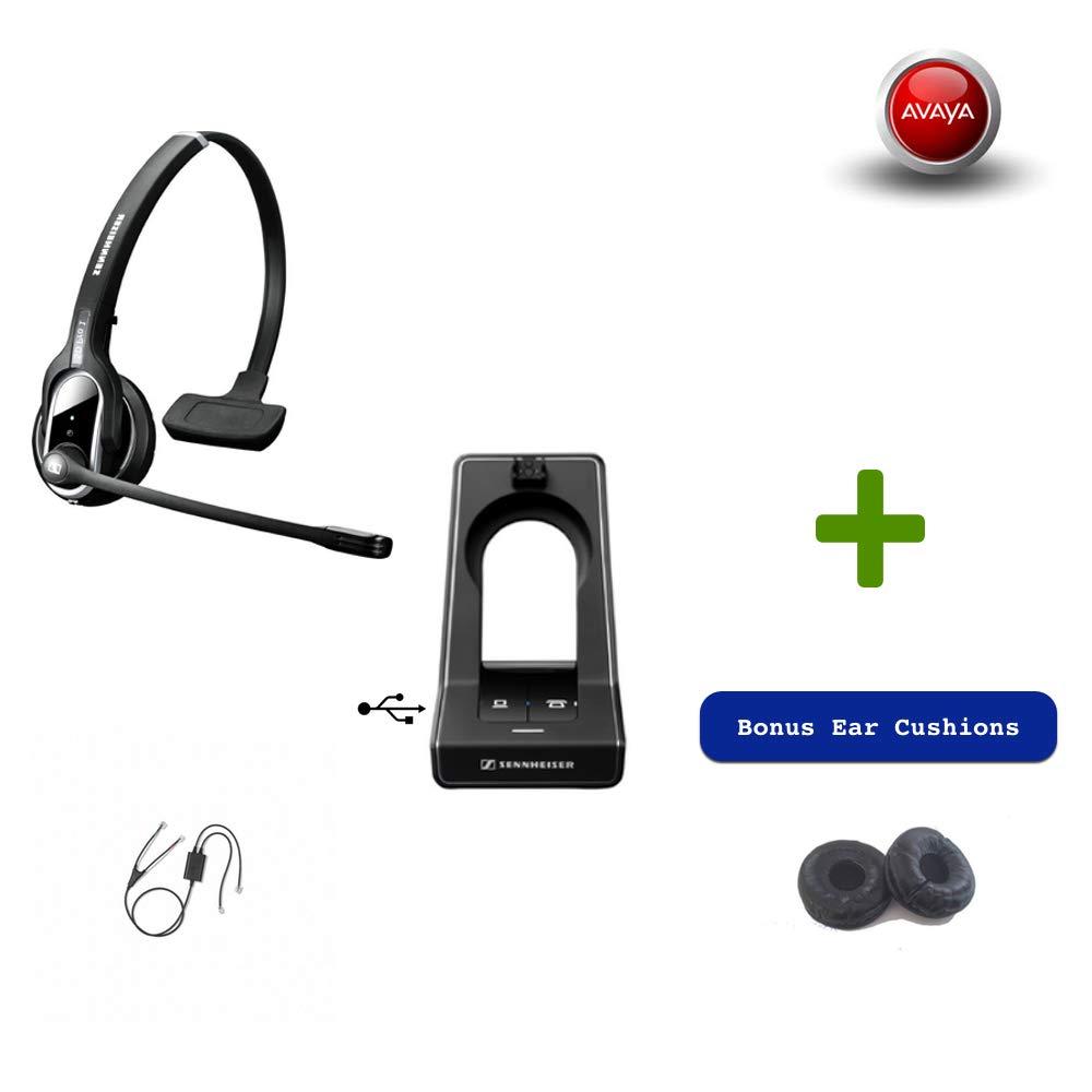 Sennheiser SD PRO1 - Deskphone Cordless Headset with Avaya EHS Adapter | Compatible Avaya Phones: 2420, 5420, 4610, 4610SW, 4620, 4620SW, 4621, 4621SW, 4622, 4622SW, 4625, 4625SW, 4630, 4630SW, 5610,