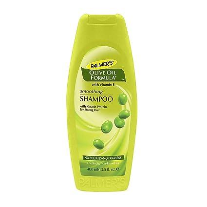 Palmer S - Fórmula de aceite de oliva con vitamina E, champú para alisar