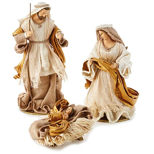 Fabric Holy Family Nativity Set, 3 Pieces Figurines Religious ()