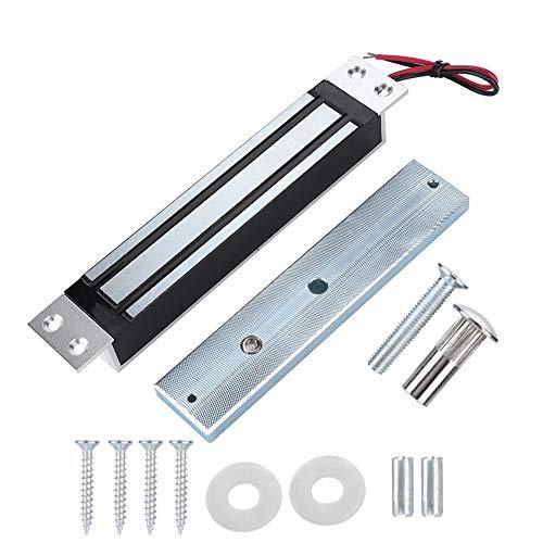 Delaman 280kg/600Lbs Bloqueo Magnético Eléctrico de Fuerza de Retención, Bloqueo Electromagnético Modo Seguro NC