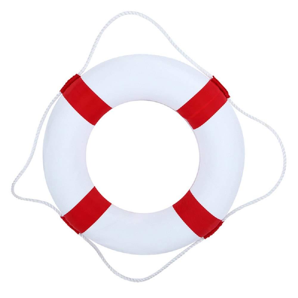 BeautySu. Huapa Foam Swim Rings - Children Swimming Pool Lifebuoy Safety Life Preserver with Perimeter Rope(Red)