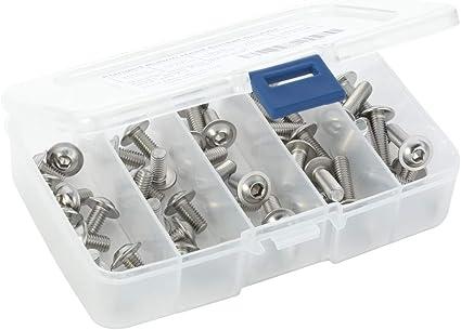 Stainless Steel 18-8 25 PCS M6-1.0 x 10mm Button Head Socket Cap Screws Allen Socket Drive Full Thread