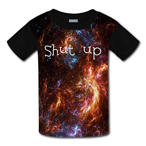 Kids Fashion Shut up 3D Print T-Shirts Short Sleeve Tees