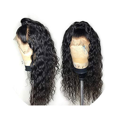 Sheep Store Wig Indian Water Wave Lace Front Human Hair Wig For Black Women Pre Plucked Remy Human Hair Wig With Baby Hair,24Inches,130%