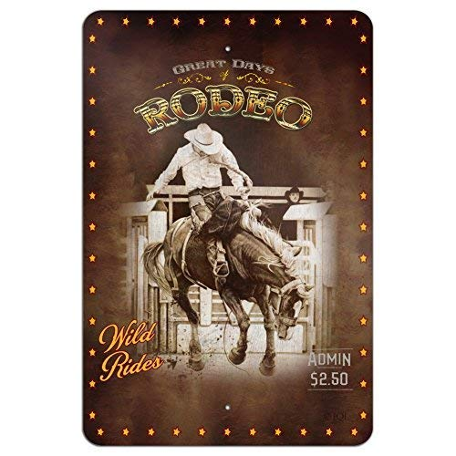 Cowboy Western Rodeo Vintage Horse Bucking Riding Home Business Office 8