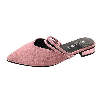 Btruely Zapatos de Mujer❤️Sandalias Casuales de Punta Zapatos Punta para el pie Zapatos de Trabajo para Mujer Zapatos de tacón Cuadrado Mocasines: ...
