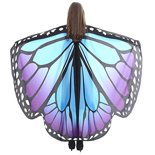 VEFSU Women Butterfly Wings Party Shawl Scarves