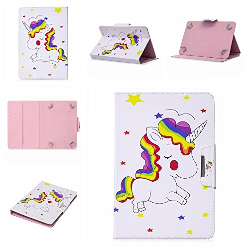 Print Hewlett Smart Packard (Uliking Universal Folio Case for 7 inch, PU Leather Stand Magnetic Cover with Card Holder for 6.5