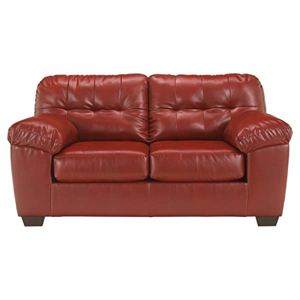 Ashley Furniture Signature Design - Alliston DuraBlend Contemporary Loveseat - Salsa