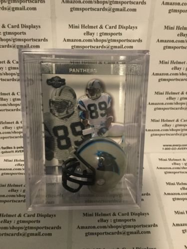 - Steve Smith Carolina Panthers Mini Helmet Card Display Collectible Case Auto Shadowbox Autograph