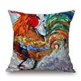 Chicken Throw Pillow Case 20 X 20 Inches / 50 By 50 Cm Best Choice For Home Theater Kids Boys Floor Wedding Him Shop With Twin Sides