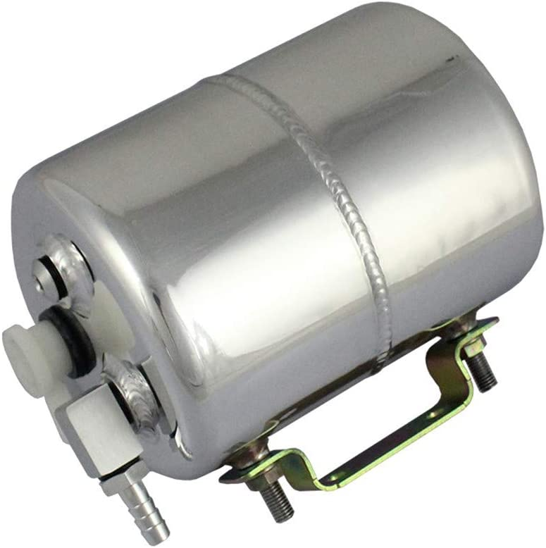 COOLNEIL Brake Vacuum Canister Reservoir Tank Aluminium Alloy Vacuum Brake Booster Can Auto Racing Products Universal for Chevy Mopar for Drift Track (Silver)