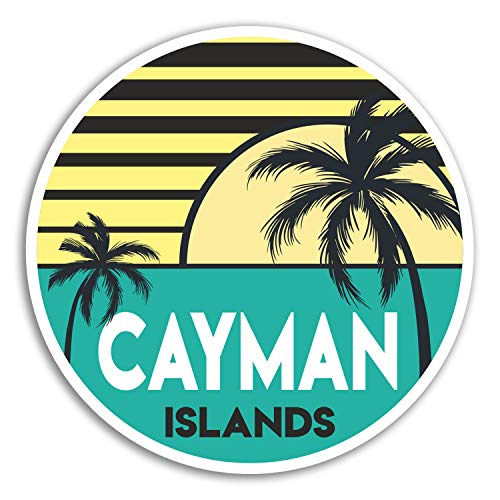 2 x 10cm Cayman Islands Vinyl Stickers - Travel Sticker Laptop Luggage #18037 (10cm Wide)