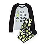 The Children's Place Big Boys' Eat and Sleep List Themed Cotton Pajamas
