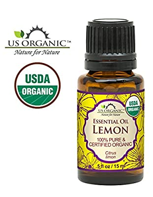 US Organic 100% Pure Lemon Essential Oil - USDA Certified Organic, Cold Pressed - W/ Euro droppers (More Size Variations Available) from US Organic Group Corp