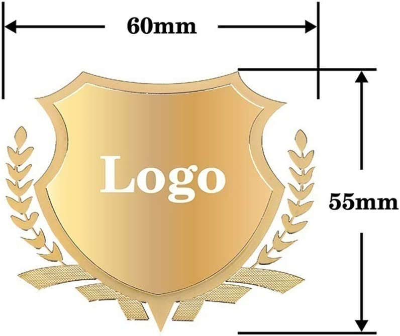 Bettway 2Pcs Car Emblem Stickers-Wheat Style Metal Car Window Decal,Car Fender Sticker,Car Body Badge Sticker with Car Logo Car Decoration fits for Lincoln gold, Lincoln