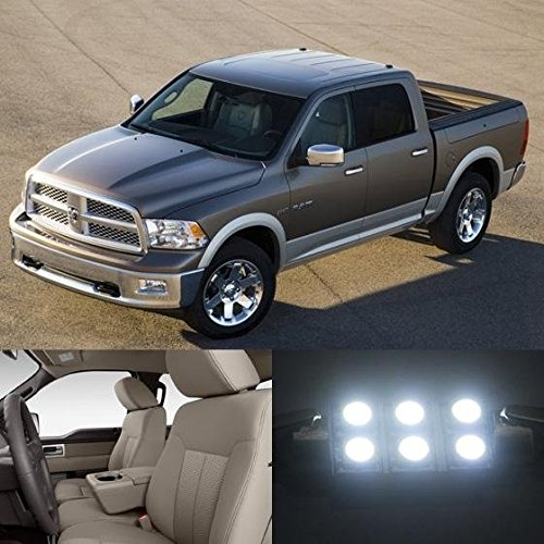 partsam-2009-2010-2011-2012-dodge-ram-1500-white-interior-led-light-package-kit-7-pieces