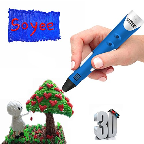 Soyee 3D Pen Doodler-3D Drawing Printing Pen with ABS Filament 1.75mm STEM Educational Intelligent Toys for Kids by Coodoo