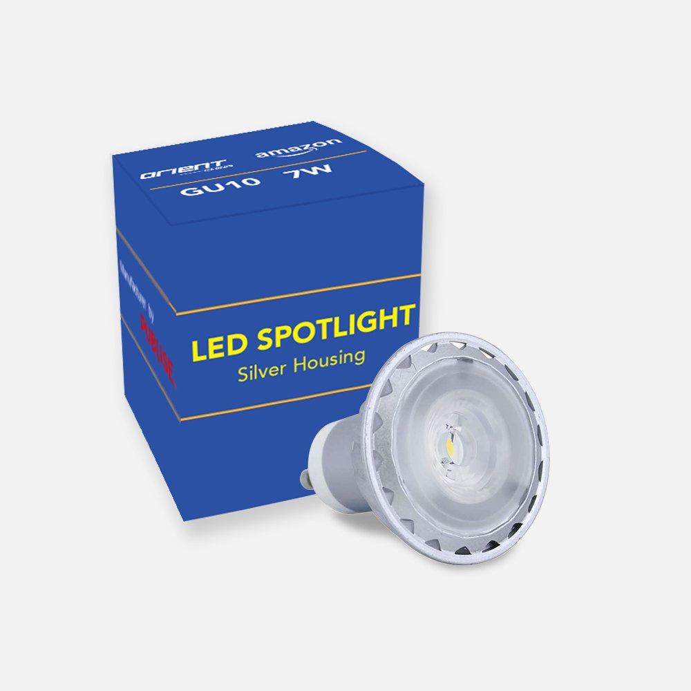 7 aluminio 240 Spotlight Metal GU10 Vivienda LED plata V 200 PXiOkZTu