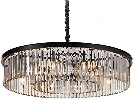 MEEROSEE ME85051-L8MN Modern Island Chandelier, 8-Lights Clear Crystals