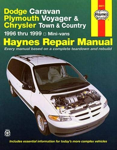 Haynes Dodge Caravan, Plymouth Voyager and Chrysler Town and Country Mini-vans (96-02) Manual (30011) ()