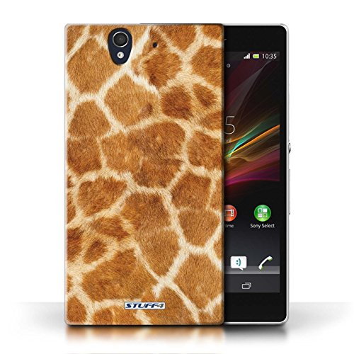 Etui / Coque pour Sony Xperia Z / Orange conception / Collection de Girafe animale Peau/Motif