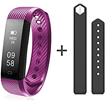 Diggro DB-01 Smart Fitness Tracker Blood Pressure Oxygen Monitor Real-Time Heart Rate Monitor IP67 Waterproof Colored Display Bluetooth Pedometer Smart Wristband for Android&iOS