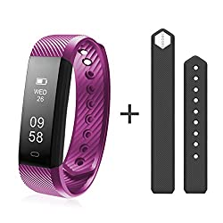 Diggro Id115hr Smart Bracelet Heart Rate Bluetooth 4.0 Sports Pedometer Calorie Ip67 Waterproof Sleep Monitor Callsms Reminder Sedentary Reminder For Android Ios