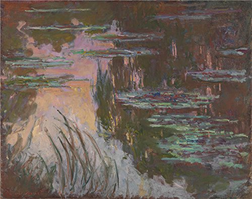Oil Painting 'Claude-Oscar Monet - Water-Lilies, Setting Sun', 18 x 23 inch / 46 x 58 cm , on High Definition HD canvas prints is for Gifts And Garage, Laundry Room And Nursery Decoration - Furniture Betsy Daybed