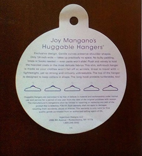 JOY Mangano 100-piece Huggable Hangers Set, Rich Camel with Brass by Joy Mangano (Image #3)