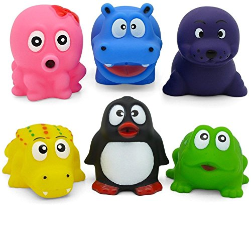 Hurley Hippo and Friends Bath Toy Set Fun Animals carry case non toxic PVC, phthalate and BPA free.