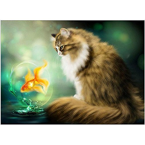 5D DIY Diamond Painting Full Drill Cross Stitch Kit Embroidery DIY 40x30cm Rhinestone Embroidery Stitch Arts Craft Diamond Art… by NEILDEN