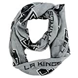 NHL Los Angeles Kings Sheer Infinity Scarf, One Size, Gray