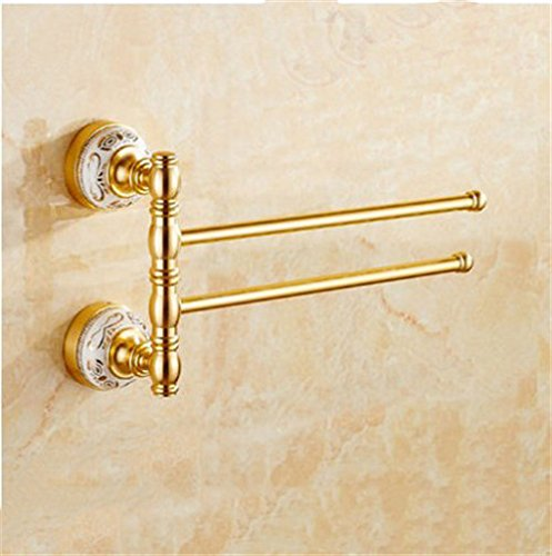 LAONA European style champagne gold ceramic base, aluminum bathroom fittings, toilet brush rack, toothbrush rack,2 bar