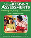 img - for 3-Minute Reading Assessments: Word Recognition, Fluency, and Comprehension: Grades 1-4 (Three-minute Reading Assessments) book / textbook / text book