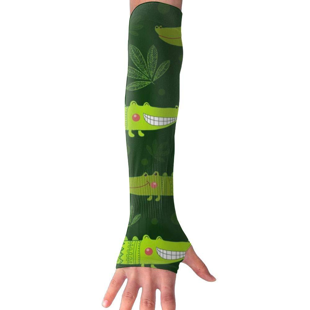 RUNNING BEAN Crocodile Anti-UV Sleeves Gloves Sun Protection Sports Protective Armor Sleeves