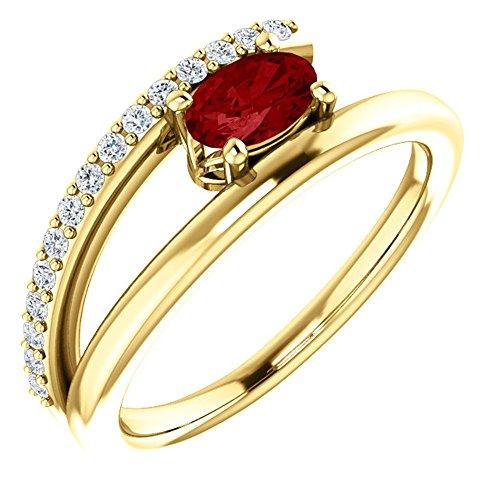 Gold Chatham Ruby Ring - 3