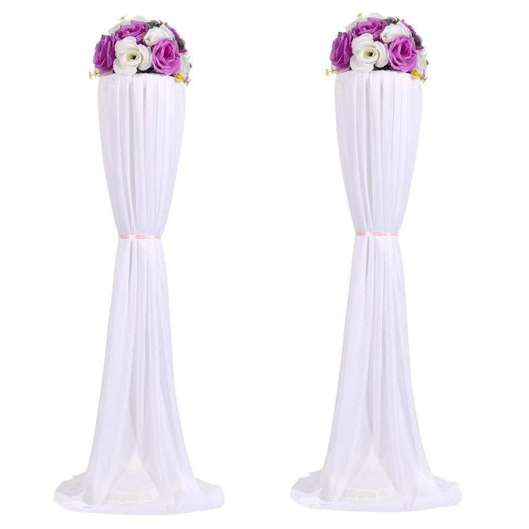 Amon Tech 8PCS Flower Column Stands Elegant Wedding Flower Column with Cloth Cover for Wedding Party Decoration (120cm) by Amon Tech