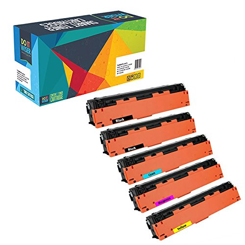 Do it Wiser Compatible Toner Cartridge for HP 201X HP CF400X CF403X CF402X CF401X for HP Color Laserjet Pro MFP M277dw M252dw MFP M277n M252n - High Yield 5 Pack