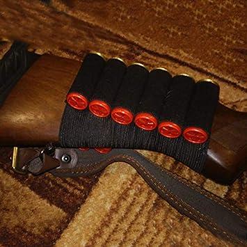 Militar de Nylon 8 Shell Soporte del Cartucho de Bala de munici/ón del Rifle t/áctico del Portador Escopeta Calibre Culata Bolsas for la Caza al Aire Libre LSB-Hunting