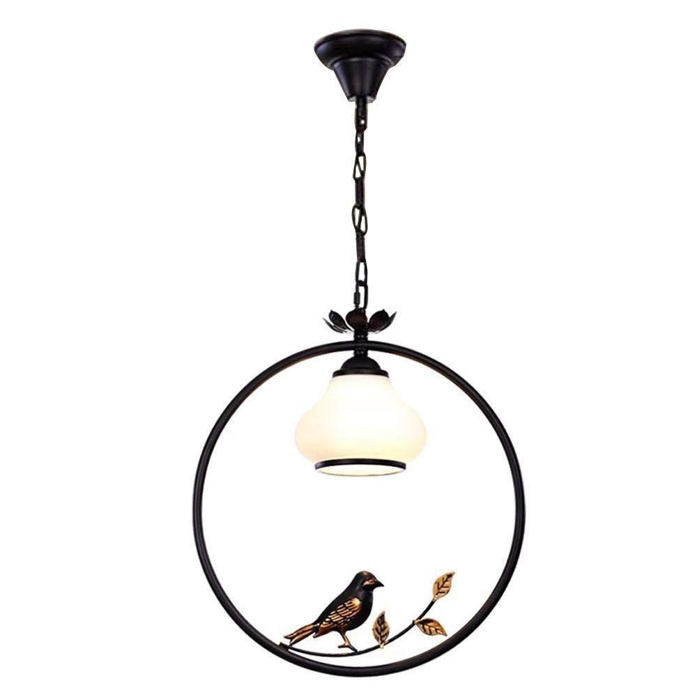 Kreativer Metallring-Mode-Leuchter-eleganter Vogel-Form-Dachboden-Schlafzimmer mit justierbarer Höhe Kreative Lichter