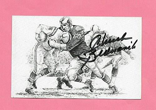 Chuck Bednarik Autographed Signed 325 X 55 NFL Hof Art Print Postcard Memorabilia JSA from Sports Collectibles Online