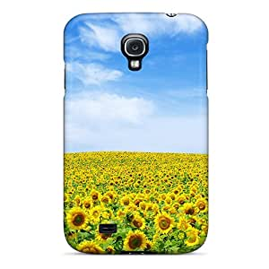 Durable Hard Cell-phone Case For Samsung Galaxy S4 (nGL23605phrD) Allow Personal Design Colorful Sunflower Landscape Pictures