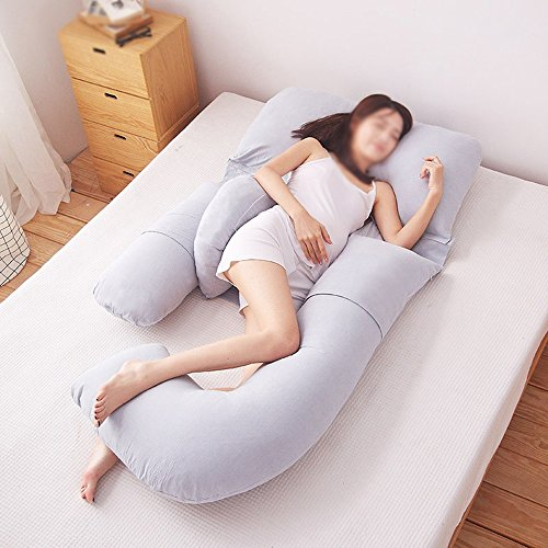 Pure color pregnant women pillows / waist-side sleeping pillow / side pillow / u-pillow / multi-functional abdominal pillow ( Color : C ) by Pregnant women pillow