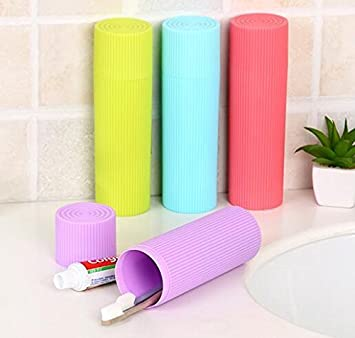 ON GATE Portable Travel Toothbrush Toiletries Stationery Holder Storage Box(set of 2)