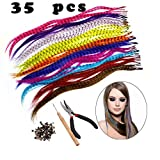 Feather Hair Extension Kit with Synthetic Feathers