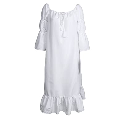 Longue Robe Au Carnavals Âge Médiévale Moyen Fille Dame Cosplay Costume Cusfull Femme BlancheDéguisement Pour 8wynPm0NvO