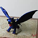 Rosy Women How To Train Your Dragon Night Fury Toothless Plush Toy Soft Stuffed Animal Doll Gift 44 Cm Pla103