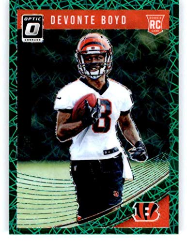 2018 Donruss Optic Green Velocity #142 Devonte Boyd RC Rookie Cincinnati Bengals NFL Football Trading Card