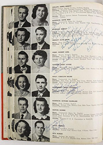 Rare Elvis Presley Signed Autographed 1953 High School Yearbook With COA - JSA Certified